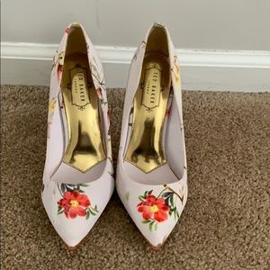 Ted Baker floral high heels